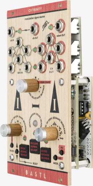 Bastl Instruments CV Trinity Eurorack Module | modulation module | side view