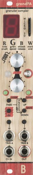 Bastl Instruments grandPA Eurorack Module | dual granular sampler | front view