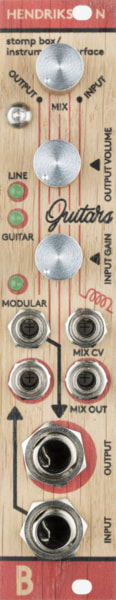 Bastl Instruments Hendrikson Eurorack Module | instrument amplifier | front view