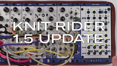 Bastl Instruments Knit Rider Eurorack Module | 6 voice trigger sequencer | demo performance
