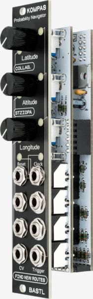Bastl Instruments Kompas Eurorack Module | probability trigger generator | side view