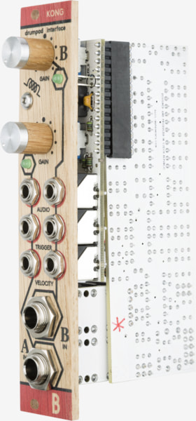 Bastl Instruments Kong Eurorack Module | dual drumpad interface | side view