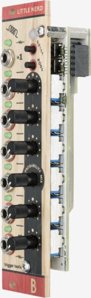 Bastl Instruments Little Nerd Eurorack Module | clock, trigger, and gate processor | side view