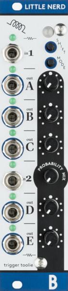 Bastl Instruments Little Nerd Eurorack Module | clock, trigger, and gate processor | front view