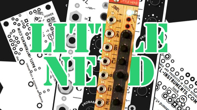 Bastl Instruments Little Nerd Eurorack Module | clock, trigger, and gate processor | demo performance