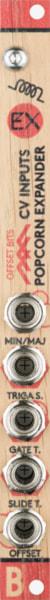 Bastl Instruments Popcorn CV Exp Eurorack Module | CV expander for the Popcorn sequencer | front view