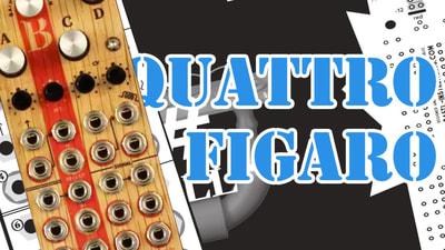 Bastl Instruments Quattro Figaro Eurorack Module | 4 channel VCA | demo performance