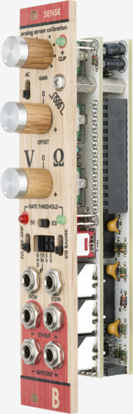 Bastl Instruments Sense Eurorack Module | analog sensor calibration module | side view