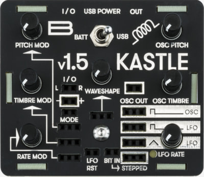 Bastl Instruments Kastle | mini modular synthesizer | front view