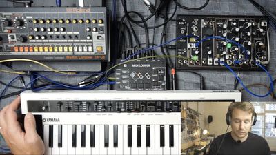 Bastl Instruments Midilooper live synthesizer performance